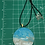 Beach color pendant, statement pendant