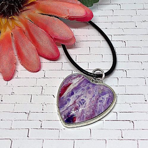 Purple heart pendant.