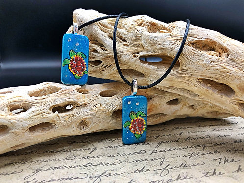 Blue sea turtle pendants