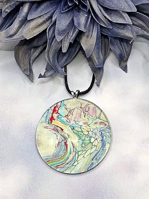 Multicolored statement pendant.
