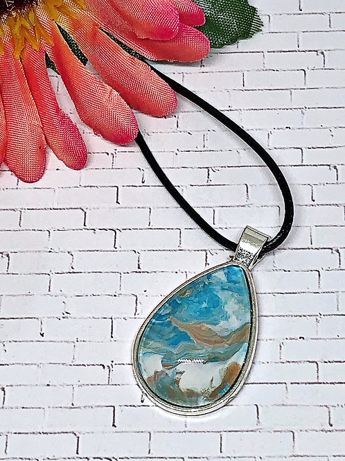 """Beachy"" teardrop pendant"