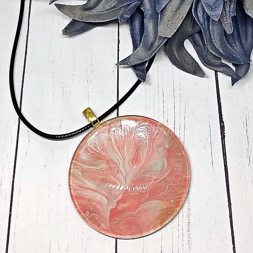Pink Blossom Pendant, statement pendant