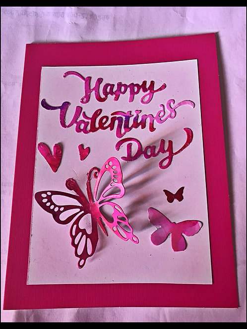 Butterfly valentine card