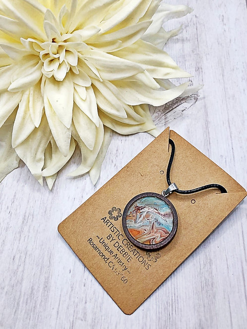 Beach color wooden pendant.