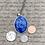 Thumbnail: Blue/purple oval necklace