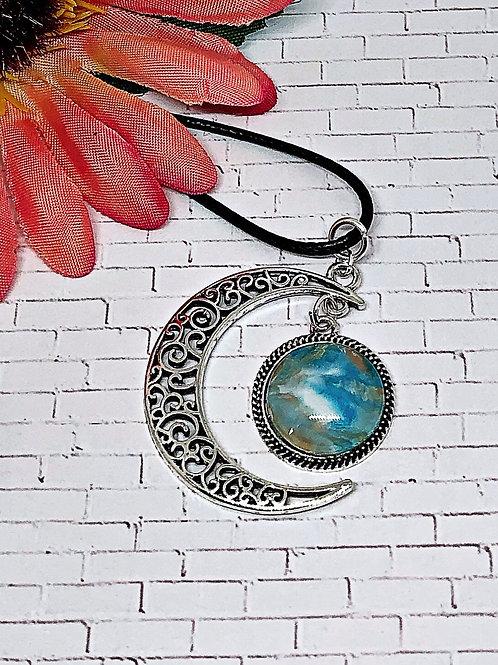 Blue moon pendant.