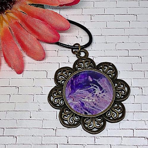Purple flower pendant.