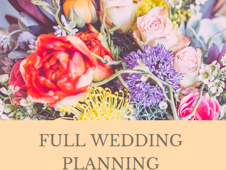 Full Wedding Planning or Day of Coordination, that is the question...