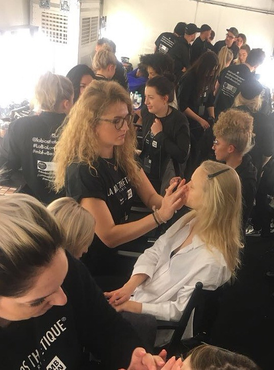 Mercedes Benz Fashionweek Berlin 2018 for LaBiosthetique in coop. with Famous Face Academy