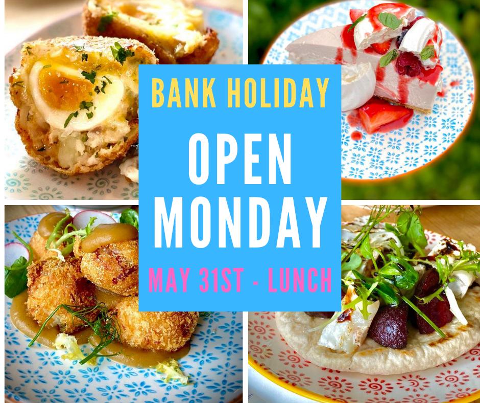 Bank Hol Monday May 31st