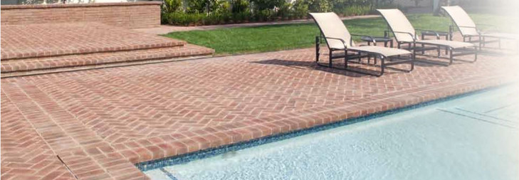 High friction tiles for poolside and baths