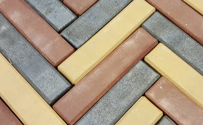 Pavers in colours