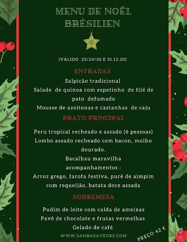 Menu de Noël brésilien