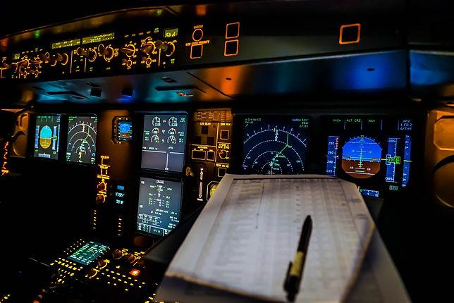 paper work in cockpit during night fligh