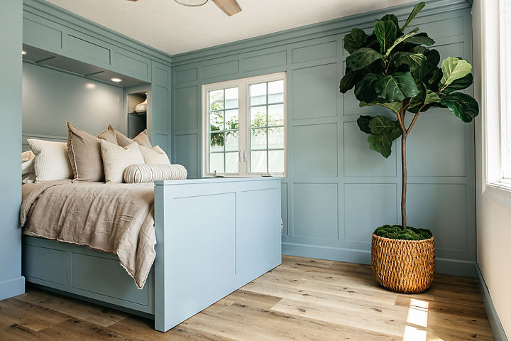 It was such a privilege to work with our repeat clients on their dream beach house!  This home has so much charm and character and we wanted to make sure that was maintained throughout the design process.  We focused on function by reworking the layouts of the bathrooms to increase storage and add a laundry space.  The goal was for the spaces to feel updated but flow well with the rest of the traditional interior.  Custom leaded glass windows were fabricated to match existing features and every spot was thoughtfully designed with the overall vision in mind.  We are so thrilled with the final result!