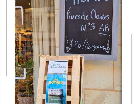 Les Huîtres Fines de Claires N°3 Sont arrivées !