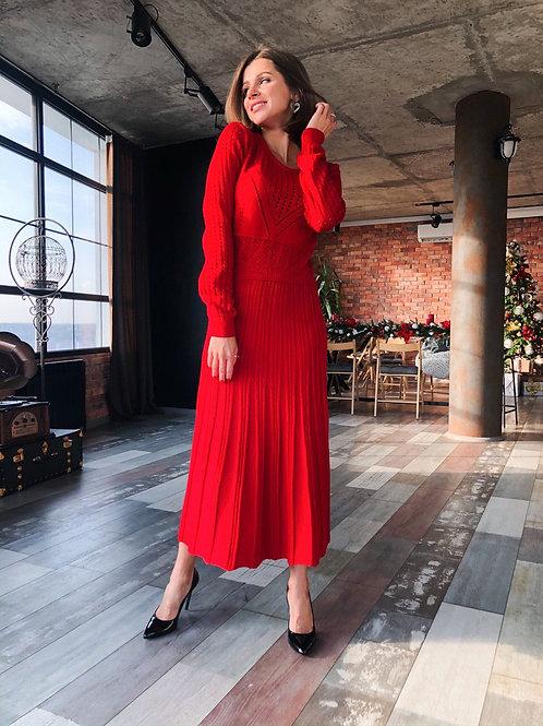 Вязаное платье Бланш
