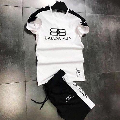 Летний спортивный костюм Balenciaga футболка и шорты