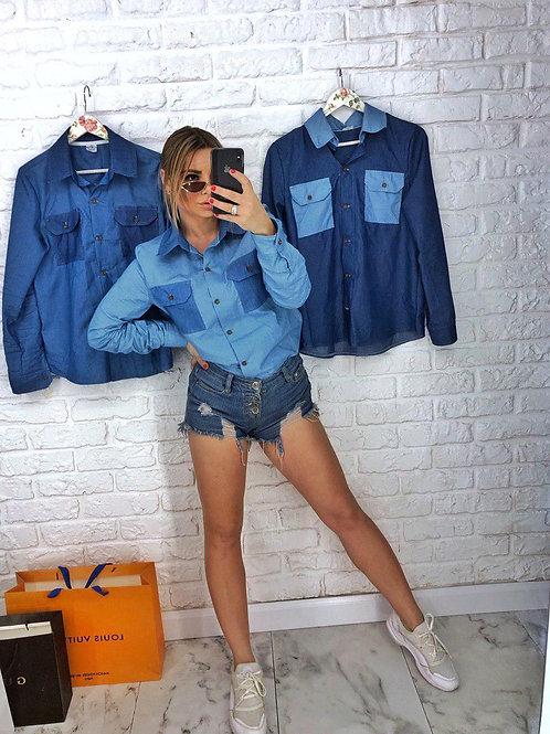 Рубашка из легкого джинса