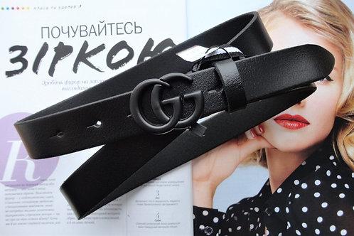 Женский кожаный ремень GUCCI ширина 3 см