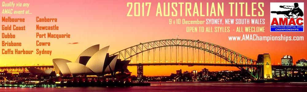 2017 Australian Martial Arts Titles December