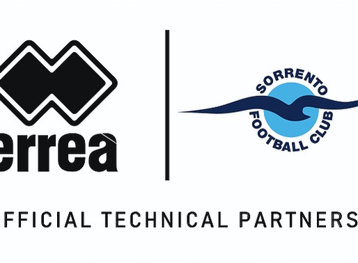 SORRENTO FC and ERREA celebrate 10 Years of Partnership