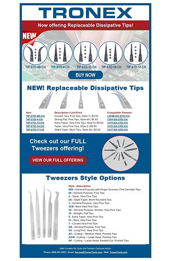 _Tronex  New Replaceable Dissipative Tip