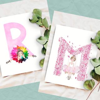 Girl's Letter Art