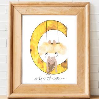 Letter C Name Art