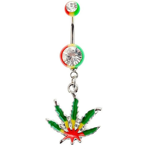Leaf Belly Button Body Ring