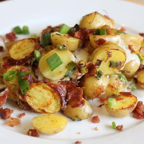 "Bacon and Cheddar ""Pot-Potatoes"""