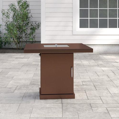 Steel Fire Pit Table- Rental