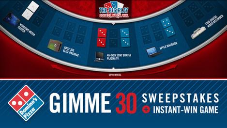 Gimme 30 Sweepstakes Concept