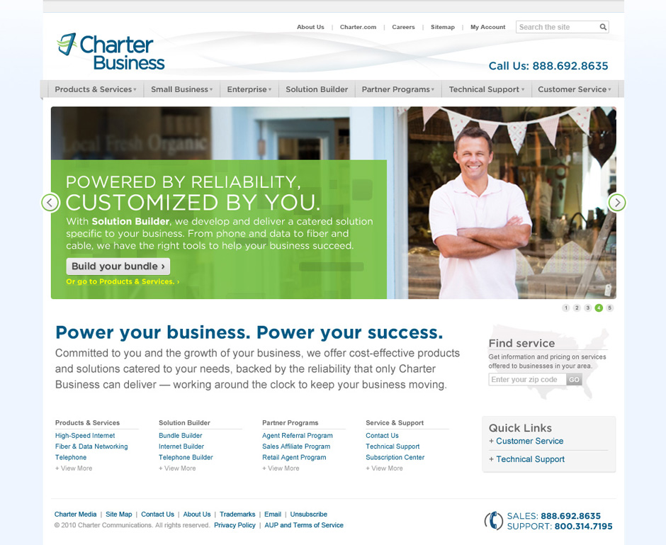 CharterBiz_homepage