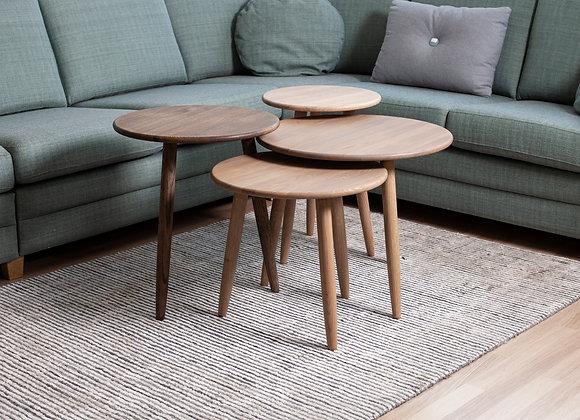 Fossekall bord i fire størrelser