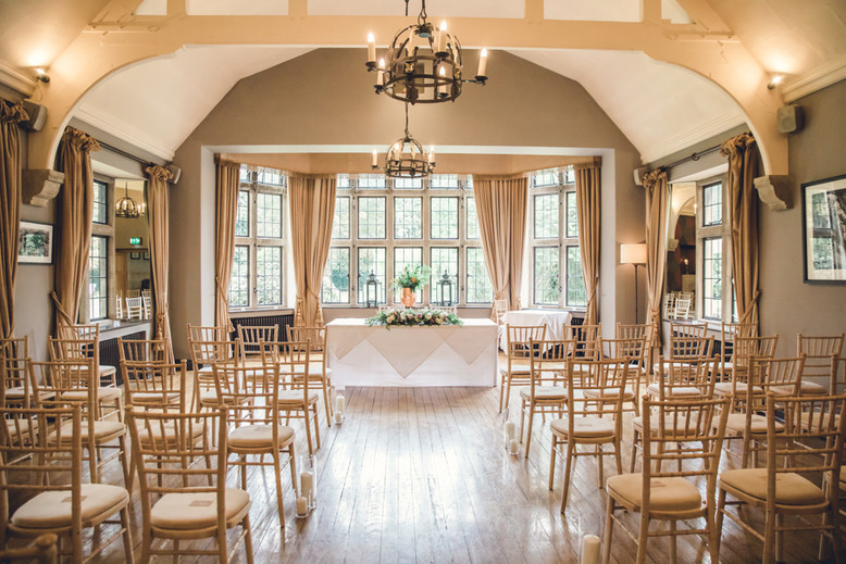 Ceremony room at The Hare and Hounds Westonbirt