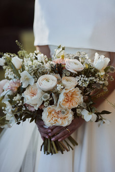 Scented Eugenie rose bridal bouquet