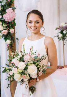 Blush bridal bouquet photo by T