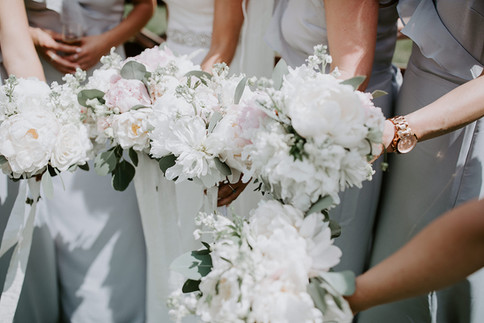 Grey chiffon bridesmaids dresses
