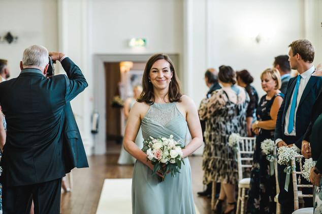 Pale green bridesmaid dress
