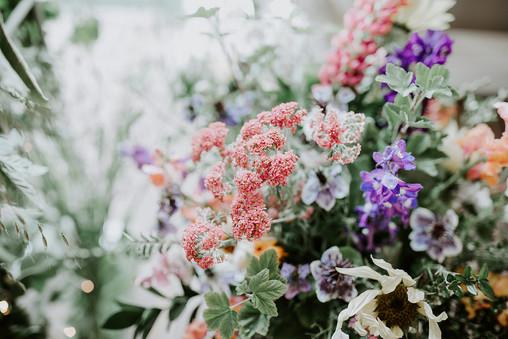 British flower wedding