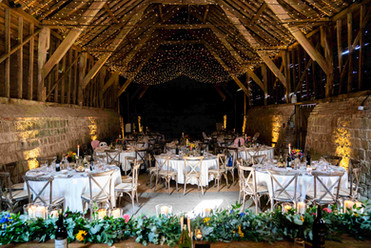 Top table garland at Wick Bottom Barn