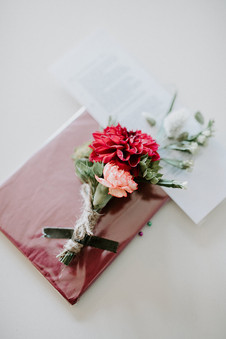 Bright buttonhole with rustic twine