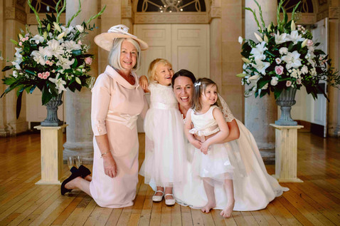 Bride, Mother of the bride and flower girls