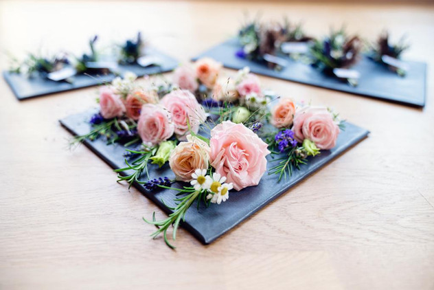 Buttonholes for family and friends