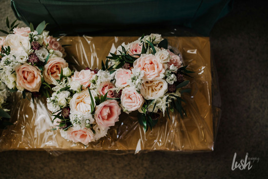Blush rose bouquets ready for delivery