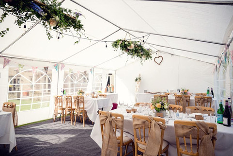 Party marquee in the garden