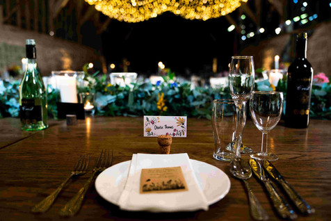 Wildflower seed favours for wedding table
