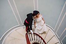 stolen kiss on spiral stair.jpg