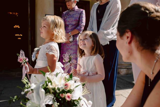 Flower girls at Bath wedding
